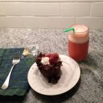 Strawberry, ginger, apple cider vinegar creation.